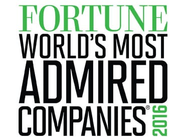 FORTUNE'S World's Most Admired Companies 2016